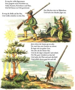 Bild: Heinrich Hoffmann / >Die Geschichte vom wilden Jäger< aus dem Struwwelpeter.