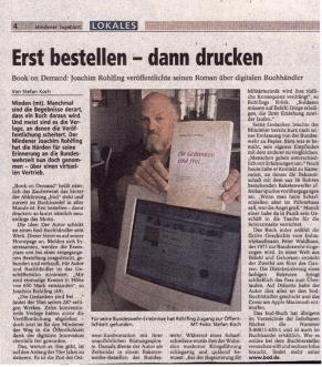 Artikel im Mindener Tageblatt 2000