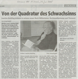 Artikel im Mindener Tageblatt